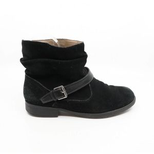 WHITE MOUNTAIN Slouchy Ankle Biker Booties with Buckle
